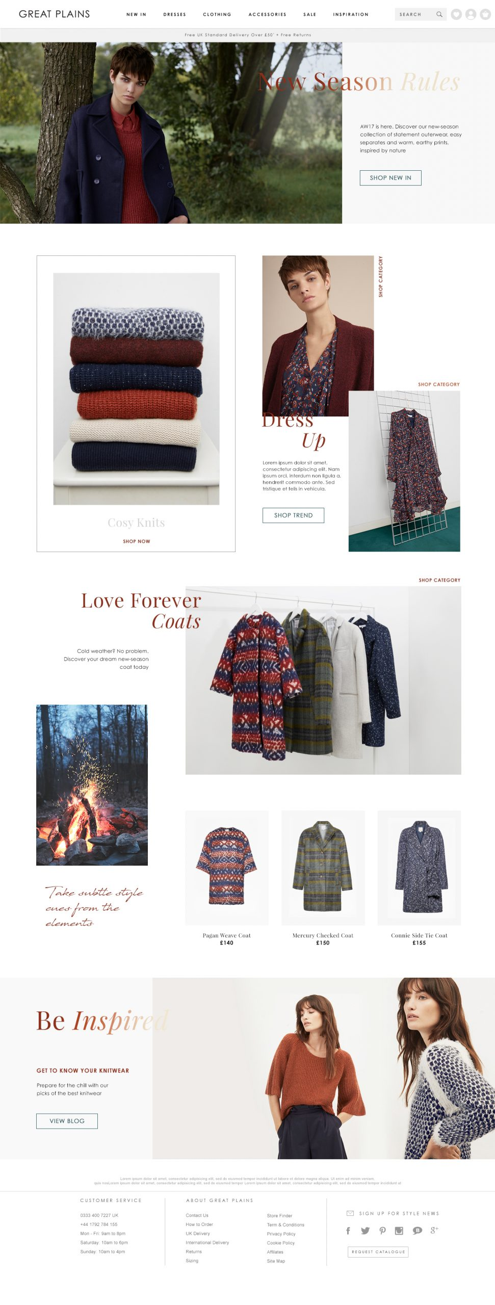 Great Plains AW17 Homepage