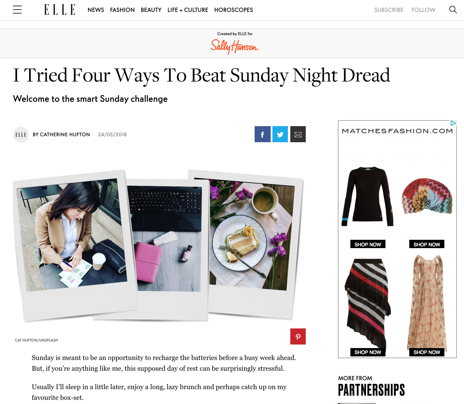 How to Beat the Sunday Night Dread