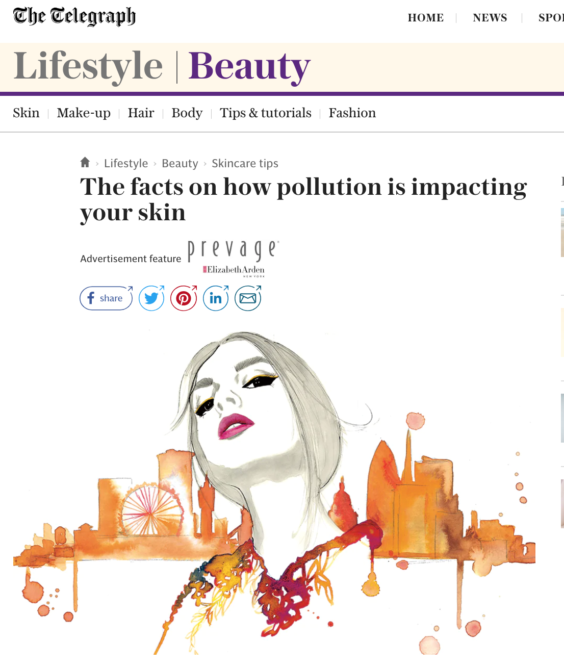 The Effects of Pollution on the Skin