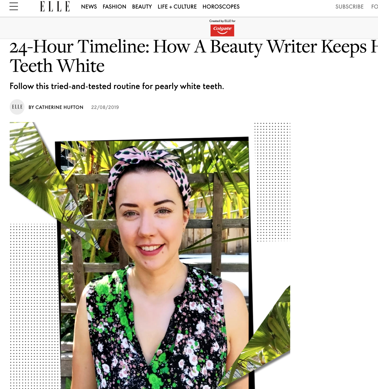 How a Beauty Writer Keeps Her Teeth White