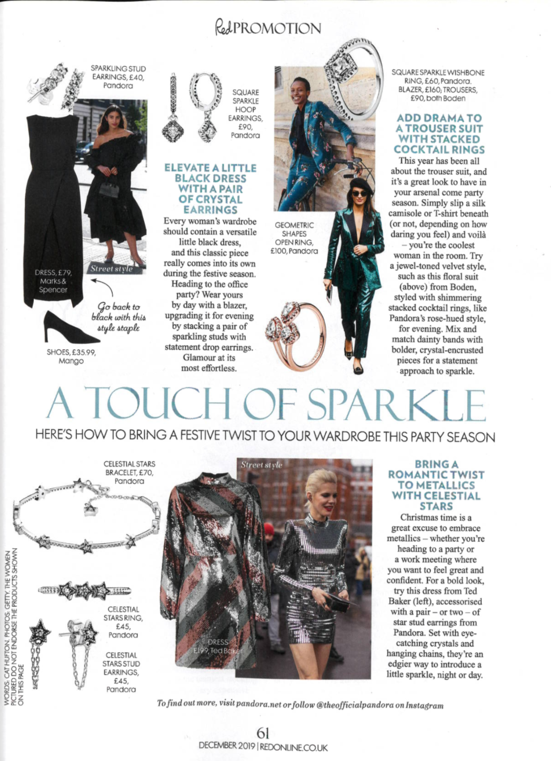 A Touch of Sparkle Red December Issue