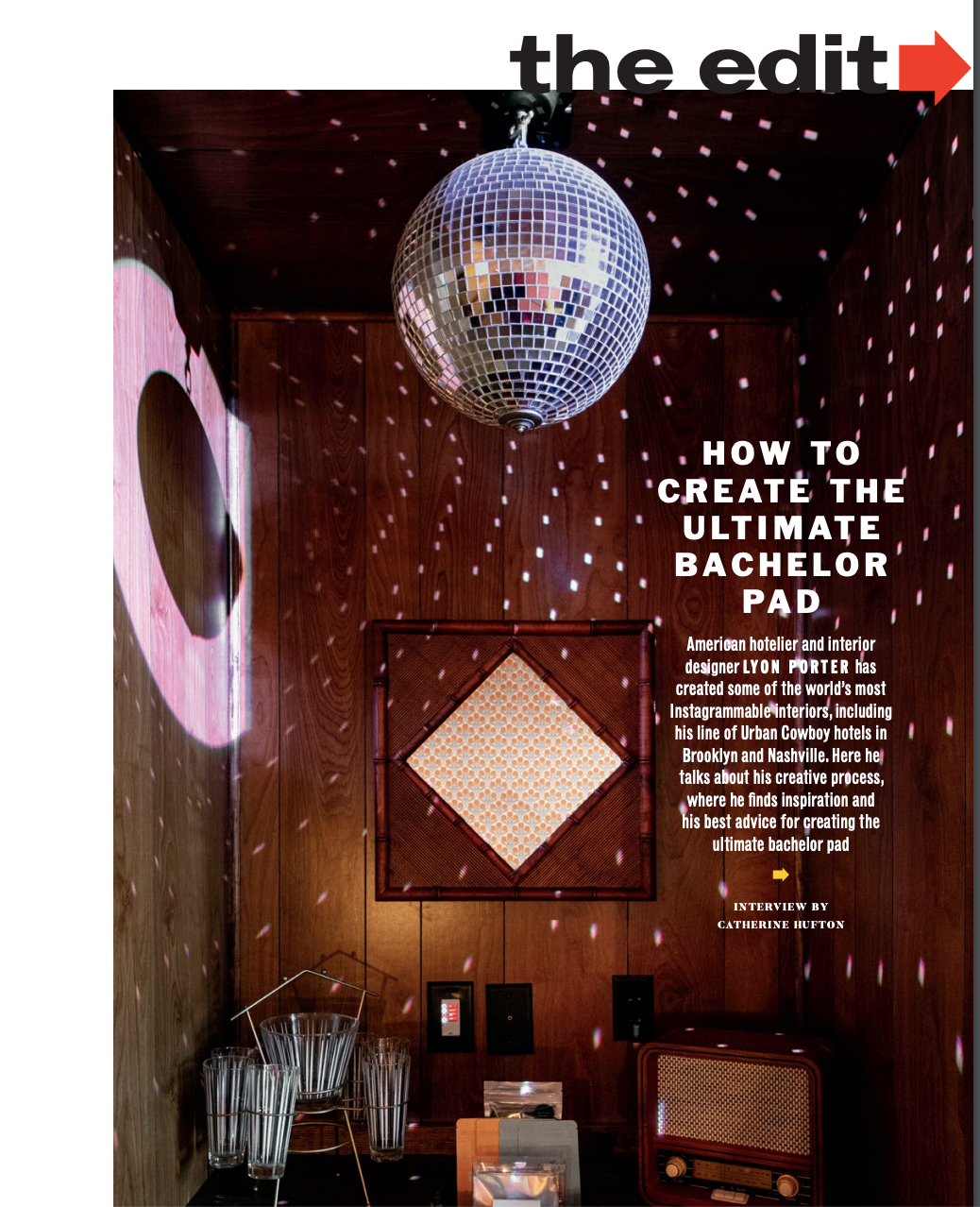 Esquire Qatar How to Create the Ultimate Bachelor Pad Lyon Porter