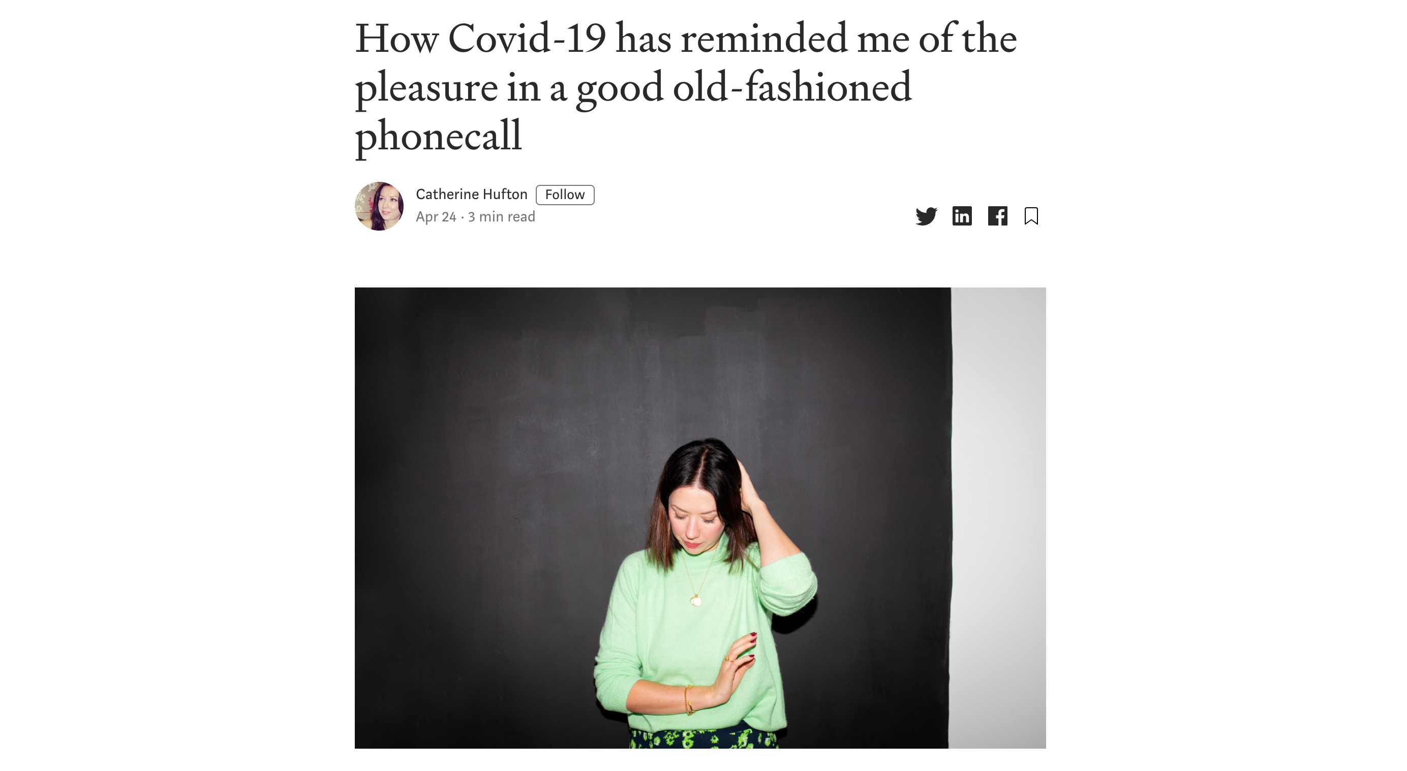 How Covid-19 has reminded me of the pleasure in a good old-fashioned phonecall