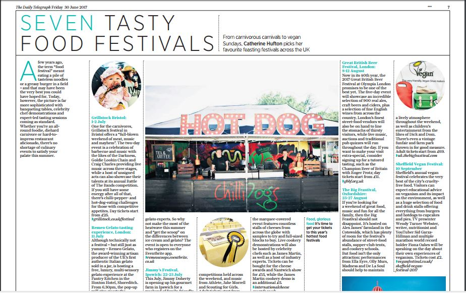 Seven Tasty Food Festivals Daily Telegraph