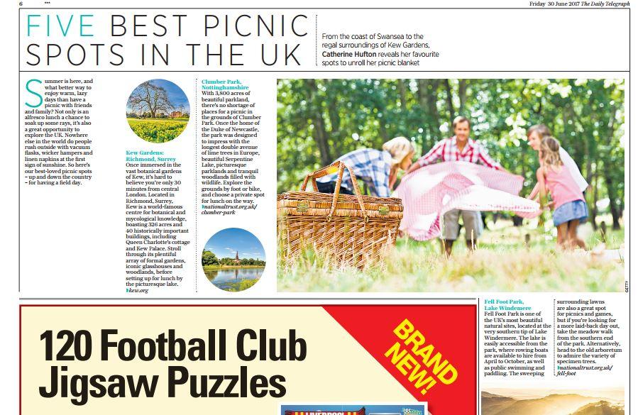 Five Best Picnic Spots Daily Telegraph