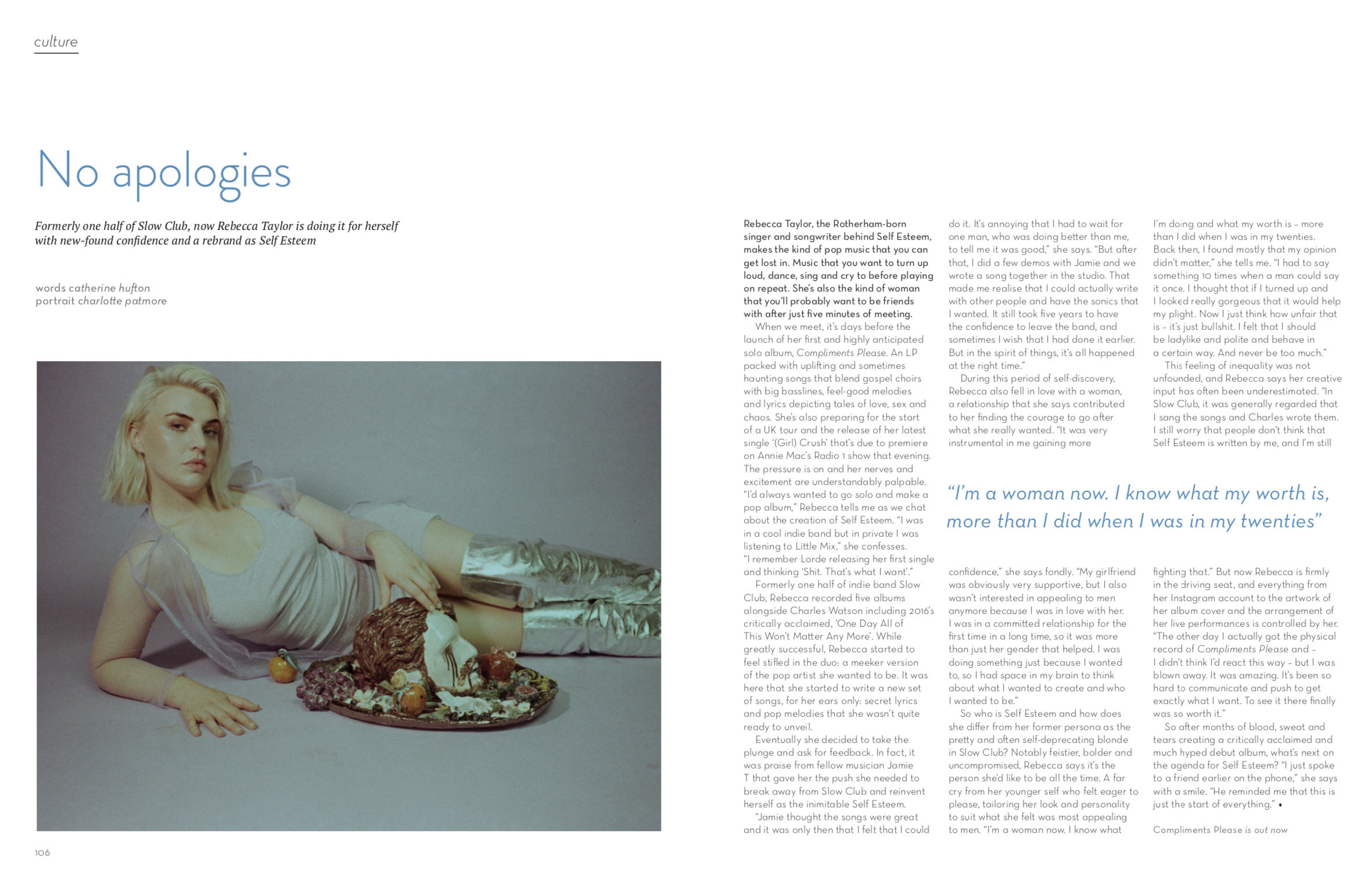 Oh Comely Magazine Self Esteem Interview