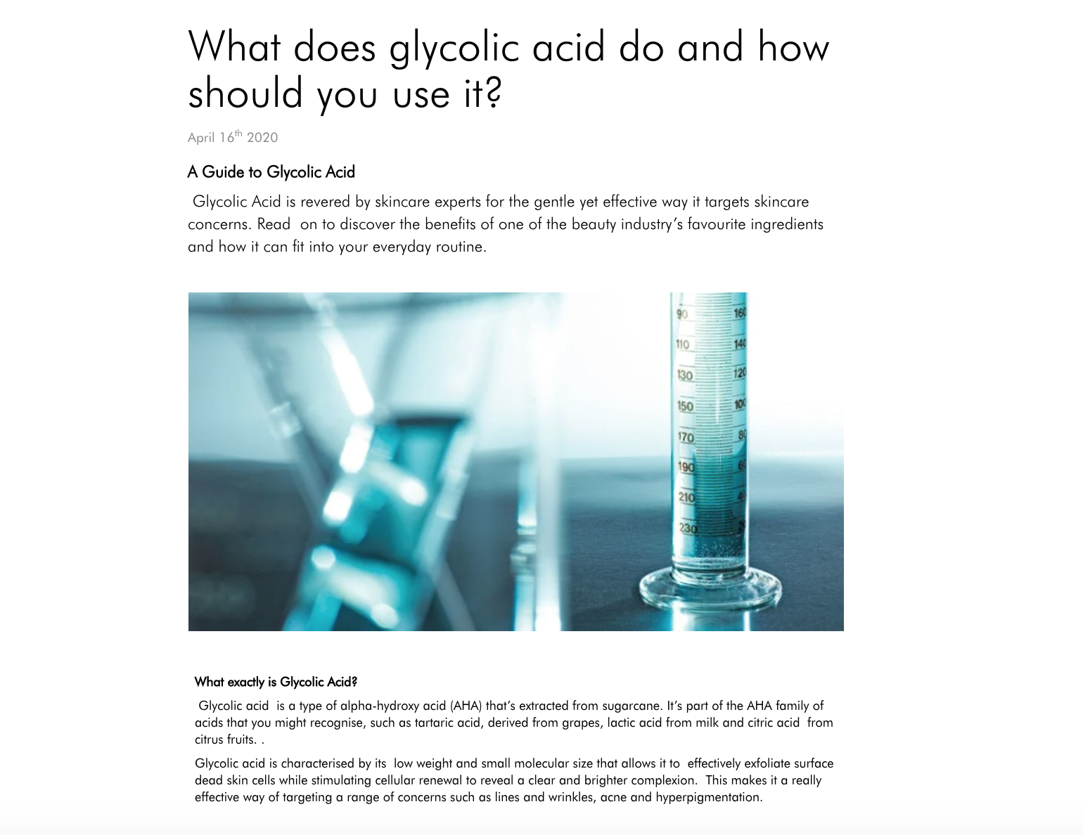 What does glycolic acid do and how should you use it?