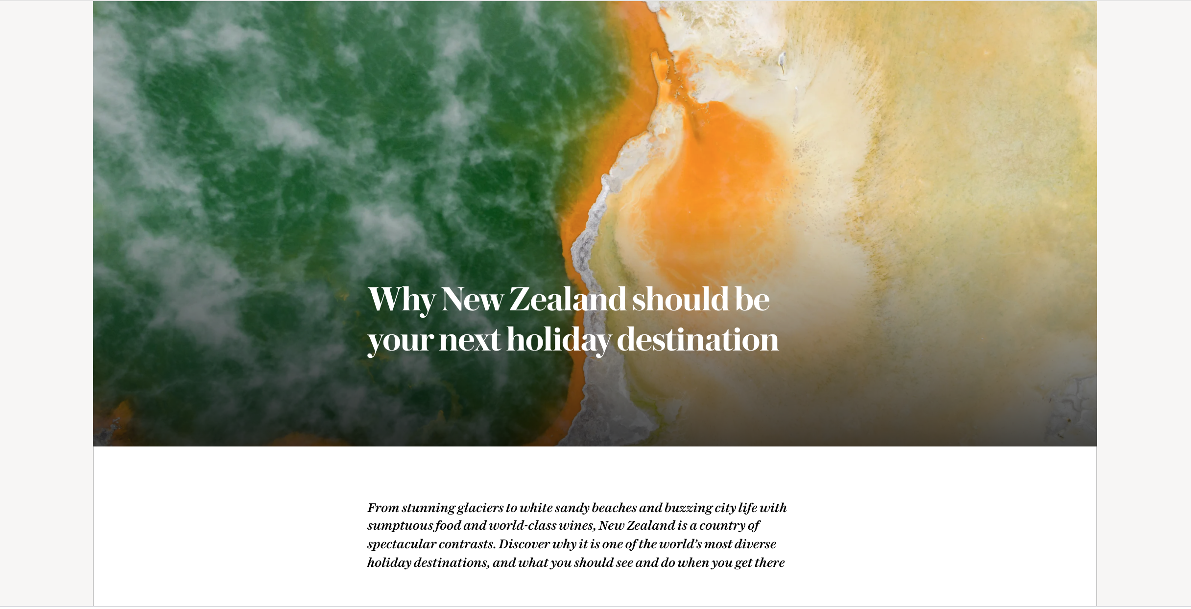 Why New Zealand should be your next holiday destination